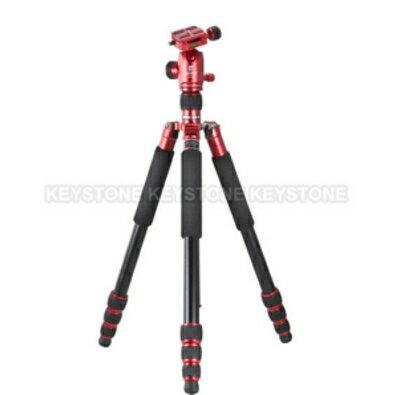 Jusino JK-425紅+BT-02(紅) 四節反摺鋁腳架雲台套組(7-14個工作天出貨)