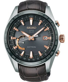 Seiko Astron 8X22-0AG0G(SSE095J1)太陽能GPS對時鈦金屬腕錶/咖啡面44.8mm