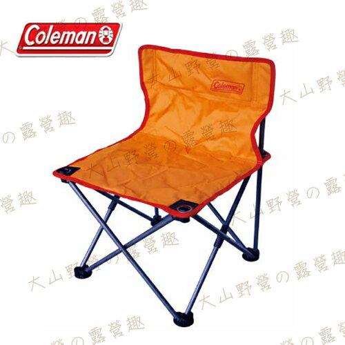 【露營趣】中和安坑 Coleman CM-3105 吸震摺椅(橘) 童軍椅 折疊椅 折合椅