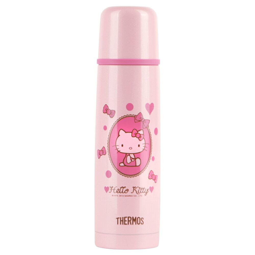 THERMOS膳魔師 Hello Kitty不鏽鋼真空保溫瓶470ml【FDX-500-LPK】(MF0389)