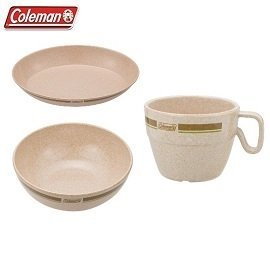 [ Coleman ] 竹纖維單人餐盤組 / 盤+碗+杯 / 公司貨CM-2923