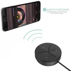 德國Aukey 汽車音響 藍牙接收器 4.0藍芽音樂傳輸器 mp3 車用藍芽免持 aux 線 sony