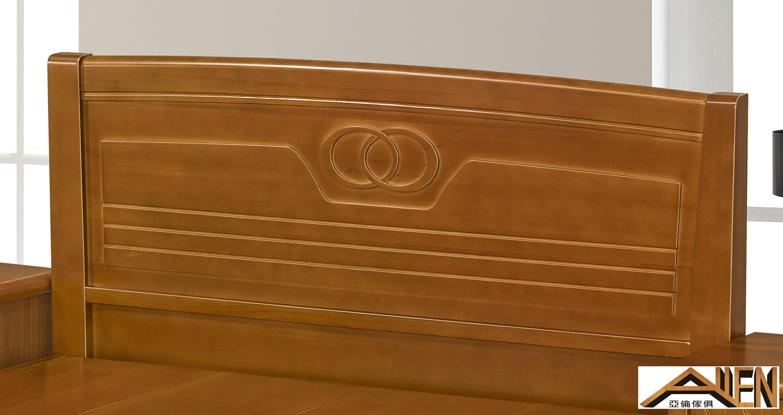 亞倫傢俱*歐爾南洋檜全實木5尺雙人床架
