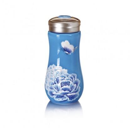倖葳:盛世牡丹隨身杯乾唐軒13-D315雙層海藍彩負離子能量250ml~年終慶85折