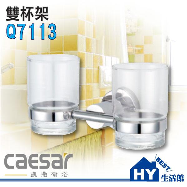 凱撒衛浴 不鏽鋼雙漱口杯架 Q7113《HY生活館》水電材料專賣店