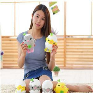 美麗大街【HB107041321E2】創意泡沫粒子雞蛋仔君毛絨玩具(8cm)