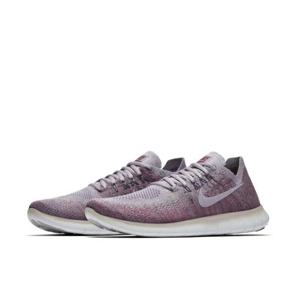 NIKEFREERNFLYKNIT2017女鞋慢跑輕量舒適網布透氣粉紫【運動世界】880844-007