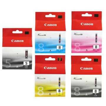 CANON PGI-5BK+8BK+CLI-8C/M/Y 原廠墨水超值組 全新原廠公司貨含稅附發票