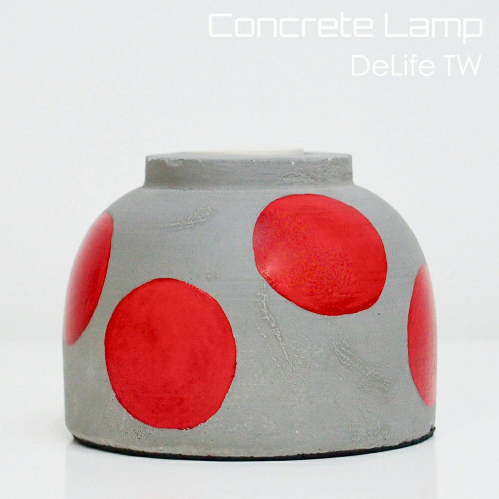 DeLife 紅點點水泥燈座- 附LED愛迪生燈泡 1