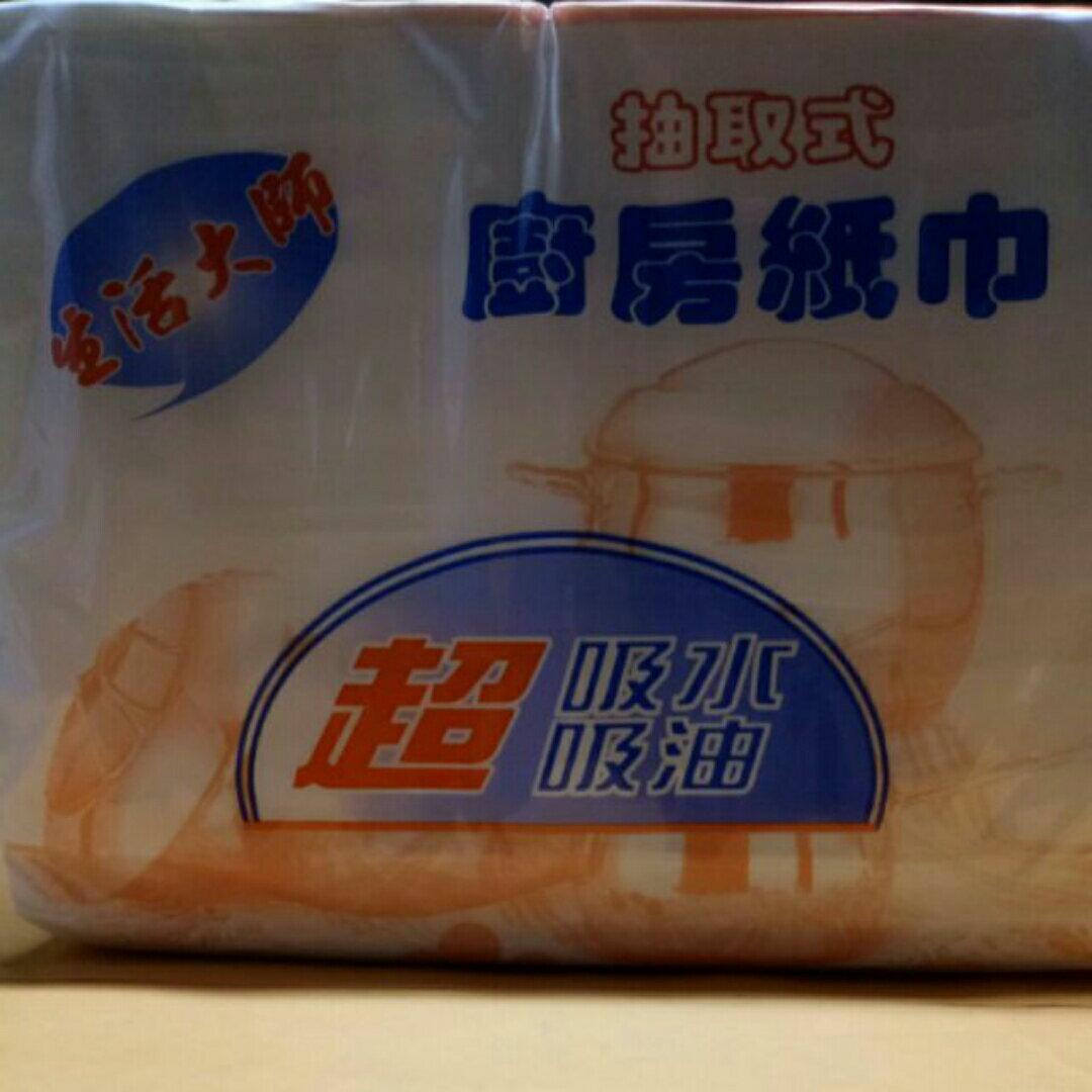 生活大師抽取式廚房紙巾150抽*3包 衛生紙