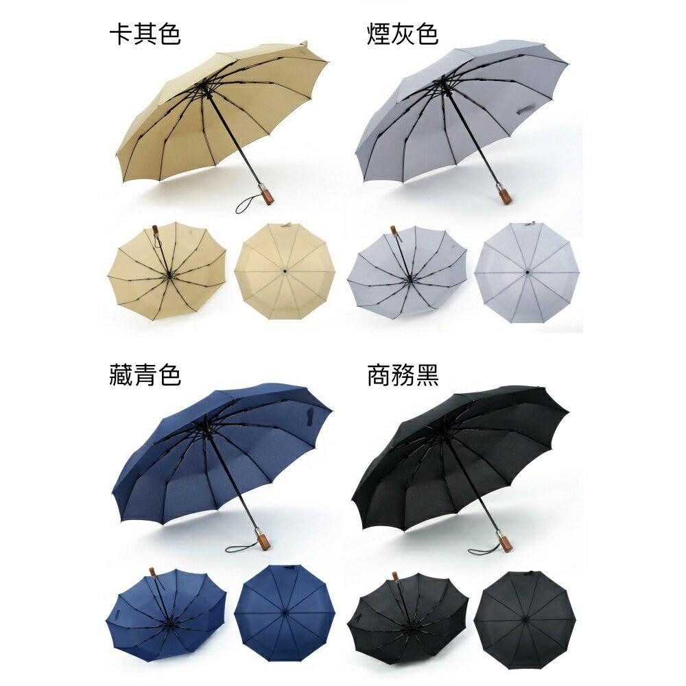 【現貨免等】復古實木手柄雨傘 自動傘 折疊傘【UBAAST23】 8
