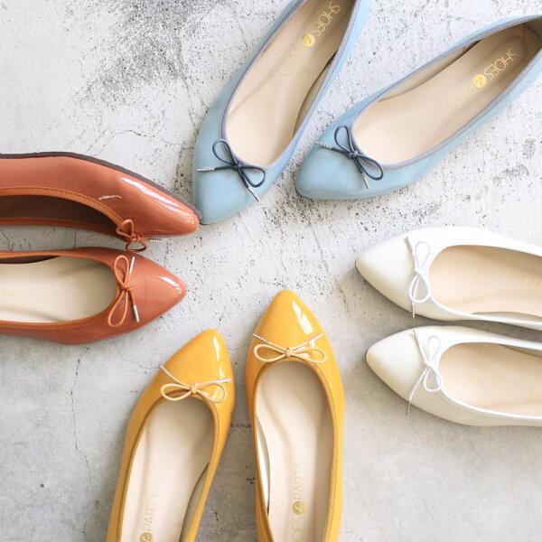 【現貨】【F2-17525P】日本製防水系列-尖頭芭蕾_ShoesParty