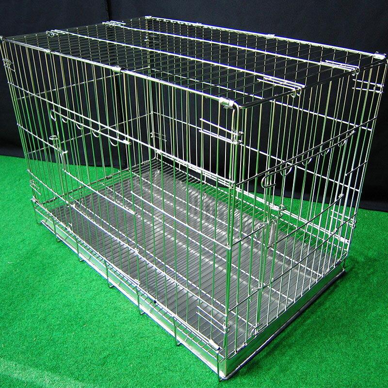 寵物屋 狗窩 寵物籠 圍欄 尿盤 底網 2.5尺折疊式狗籠 不鏽鋼摺疊2.5尺白鐵線籠 空間特工