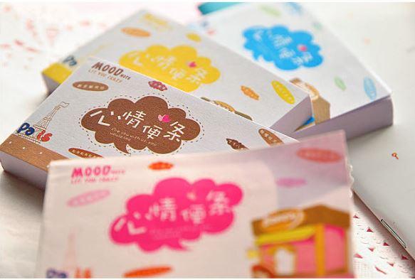 【省錢博士】韓國文具卡通心情便條本 / 可愛迷你心情便簽本彩頁 / 隨機出貨 2