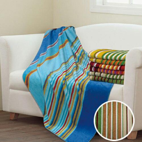 【彩虹】超細纖維隨意毯-咖啡(130x170cm)