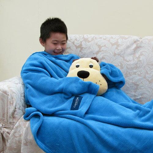 ~兒童限定版~【樂邁】超細纖維兒童創意袖毯-淡藍色(120x140cm)