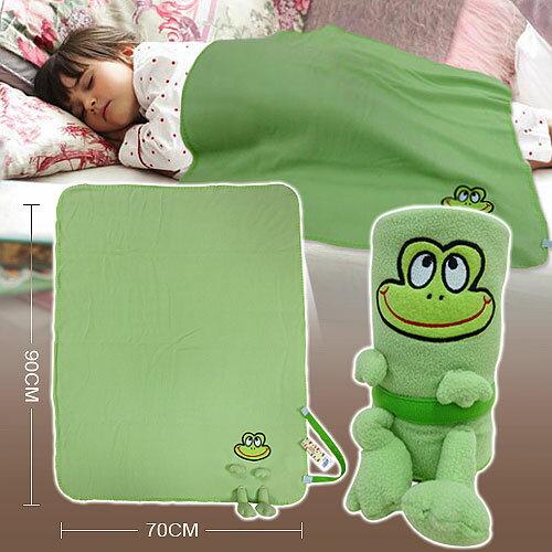 棉花田~俏皮蛙~兒童 隨意毯~ 70x90cm