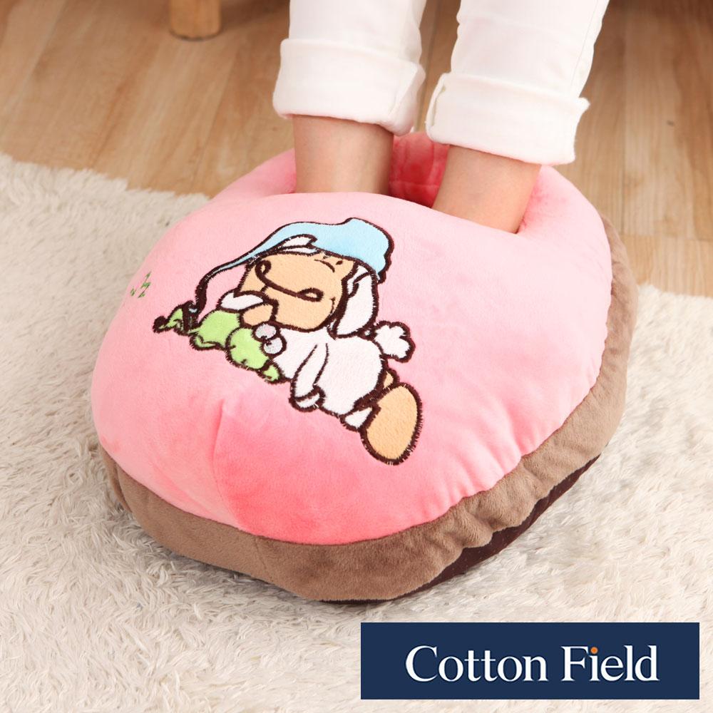 【小狗】超柔貼布刺繡暖腳枕