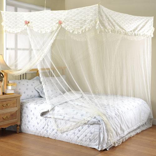 【潘朵拉】單人蕾絲蚊帳-米色(90x180cm)