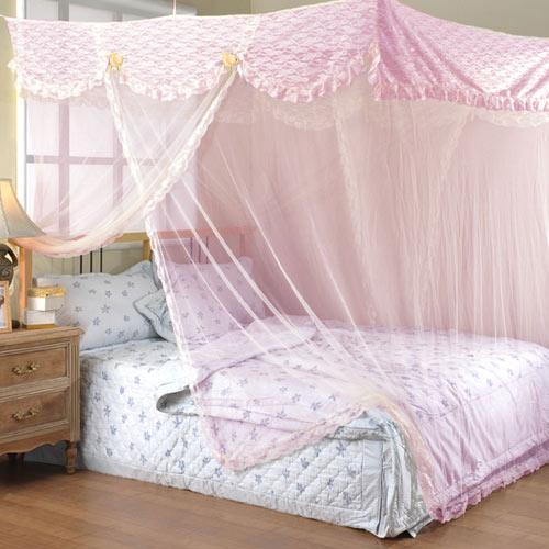 【潘朵拉】加大雙人蕾絲蚊帳-粉色(180x180cm)