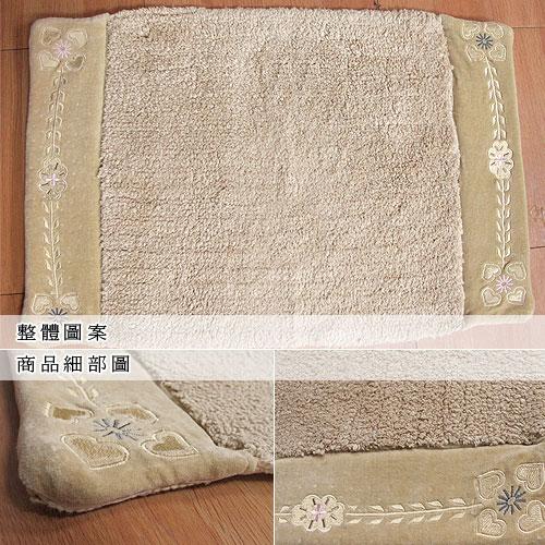 【語蝶】純棉包邊刺繡踏墊(50x80cm)
