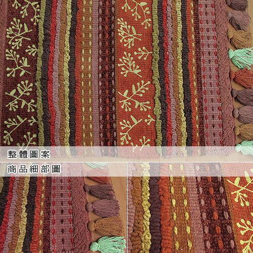 【南洋】艾菲刺繡香奈絨編織鬚邊踏墊(45x70cm)