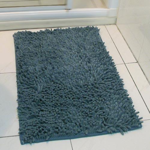 【香奈爾】極超細纖維雪尼爾防滑踏墊-藍灰色(40x60cm)