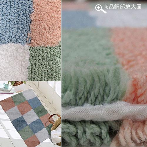 ★★  NG商品出清  ★★ 純棉雙面方格踏墊(45x70cm)
