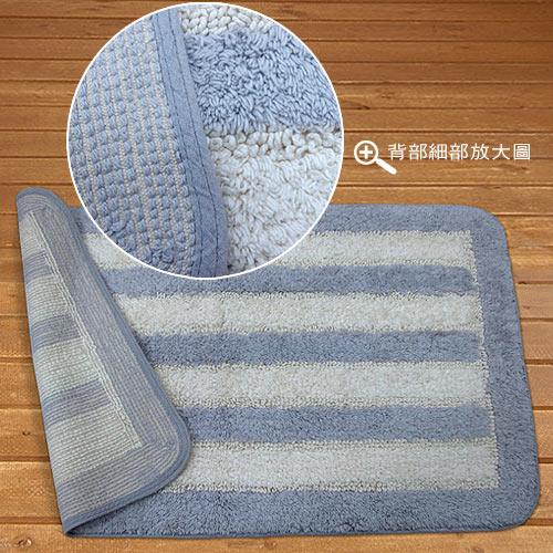【華爾特】純棉提花踏墊-藍色(50x80cm)