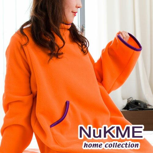 棉花田傢飾:棉花田【NuKME】時尚多功能創意袖毯-亮桔色