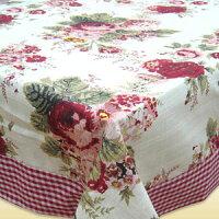 鄉村風zakka雜貨到【羅蘭】純棉印花方桌巾(100x100cm)