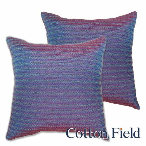 【彩妍】變色龍齒鏽鋪棉抱枕-藍紫色(二件組)
