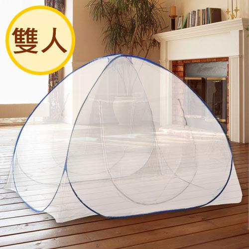 【浪漫滿屋】雙門帳棚式蚊帳-雙人(150x200x150cm)