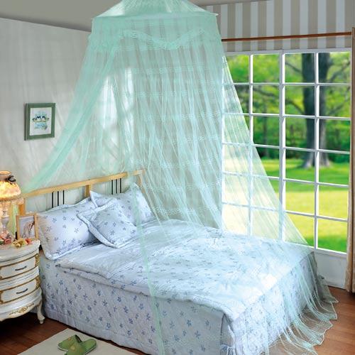 【朵麗】提花細網蕾絲睡簾-草綠色(100x270cm)