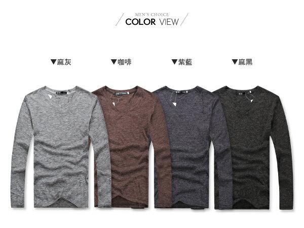 ☆BOY-2☆ 【PPK86009】簡約V領素面薄針織衫 2