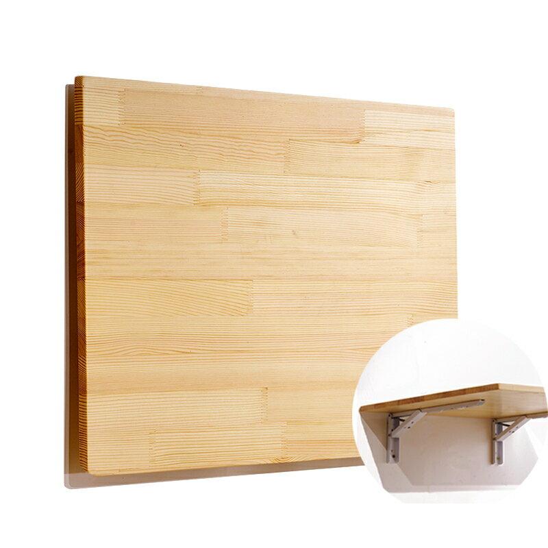 折疊壁掛桌 牆上折疊桌實木牆壁折疊桌壁掛桌置物架書桌餐桌靠牆掛牆桌免打孔『SS3437』 2