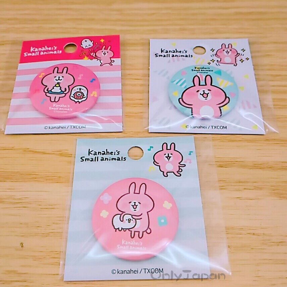 【真愛日本】18011000004 圓形胸針3入裝S-卡娜赫拉 卡娜赫拉的小動物 兔兔 P助 胸針 別針 包包裝飾