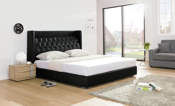 【尚品家具】HY-A93-01米蘭黑色5尺床頭片~另有6尺