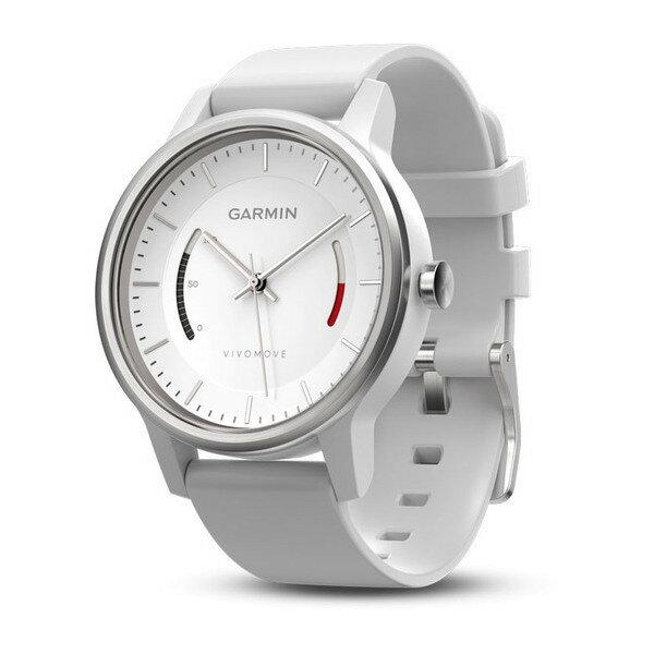 GARMINvivomove智慧指針式腕錶SPORT~律動白