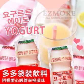 韓國 7-11限定 多多袋裝飲料 (原味/草莓) 附愛心吸管 230ml 養樂多 多多 飲料 養樂多袋裝飲料【N202430】