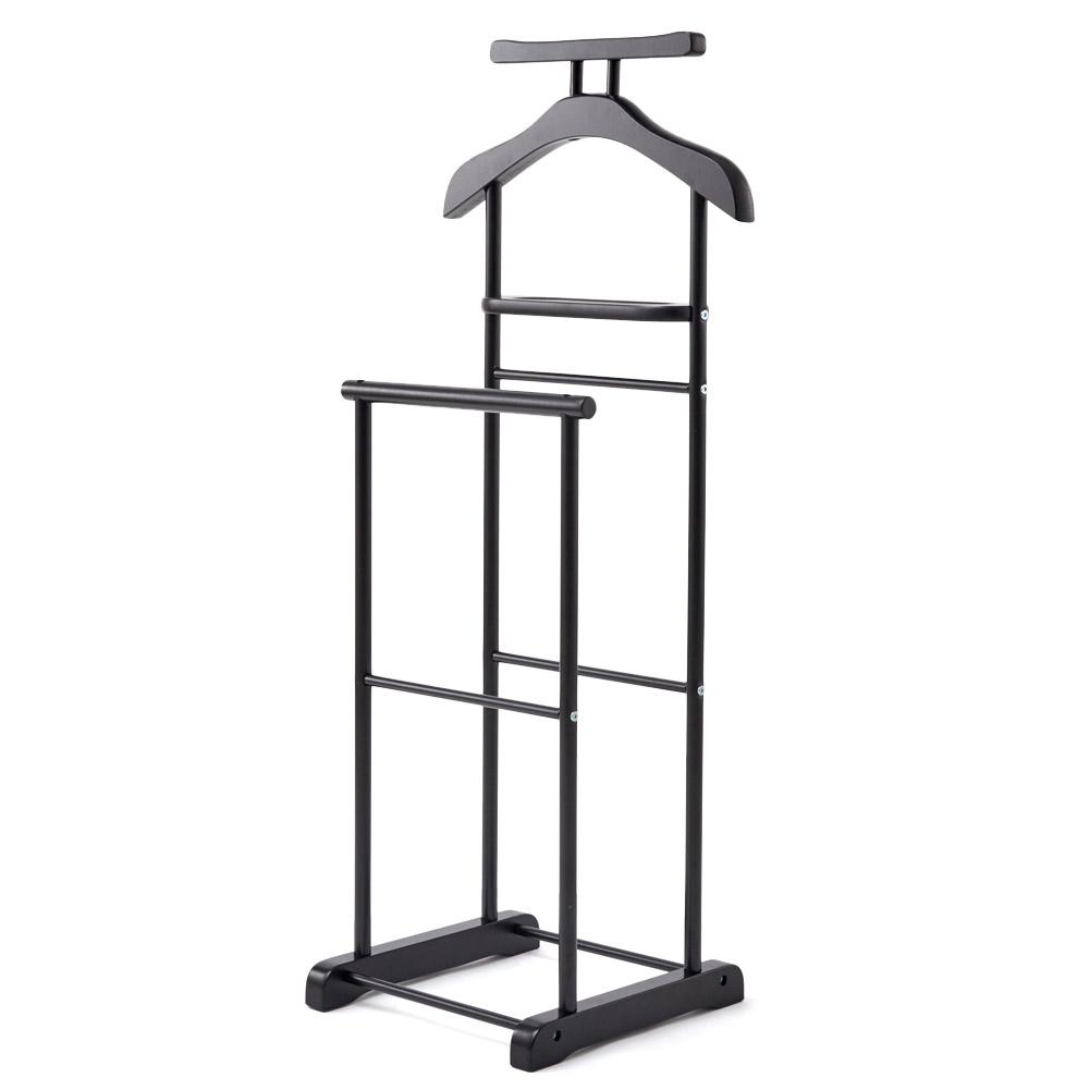 Clothes Valet Stand Ezoware Suit Rack Organizer Black 0