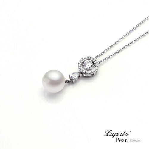 大東山珠寶 星眸 日本AKOYA天然海水珍珠純銀晶鑽項鍊 1