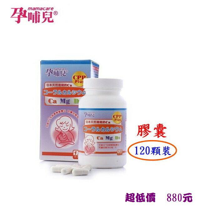 *美馨兒* 孕哺兒R日本天然珊瑚鈣 -120顆裝(膠囊)- 品號66100 /880元
