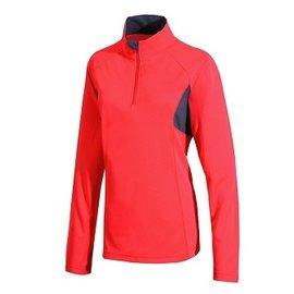 【【蘋果戶外】】山林 21P12-47 粉橘紅 Mountneer 女 透氣排汗長袖上衣 吸濕排汗衣 防曬 抗UV 彈性