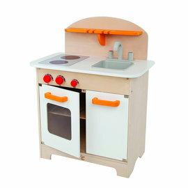 德國Hape愛傑卡-大型廚具台(白色)木製玩具3824元