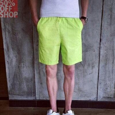 50%OFFSHOP卡其短褲色褲鬆緊腰彈性設計【01AD035048P】