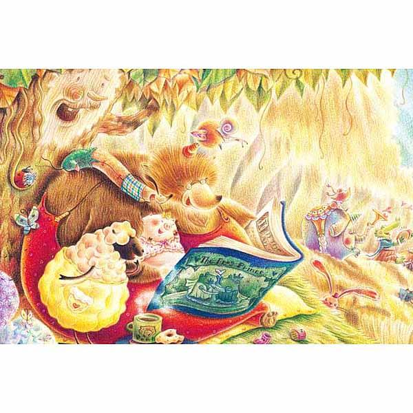 【P2 拼圖】童話閱讀森林-書中黃金屋 拼圖1000片 01-006