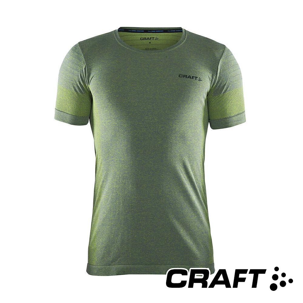 瑞典CRAFT 男 Cool全天候短袖排汗衣『綠』1905471 排汗衣│慢跑衣│吸濕排汗│乾爽透氣