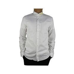 【KENZO】黃領長袖襯衫(白) F655CH2131FA 01