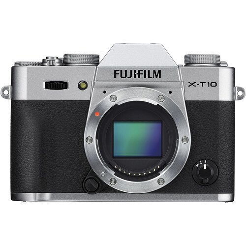 Fujifilm X-T10 Mirrorless Digital Camera (Silver, Body Only)